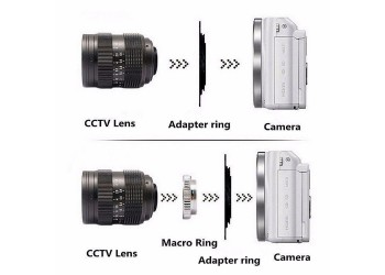 Adapter C-NX: C mount movie Lens - Samsung NX mount Camera