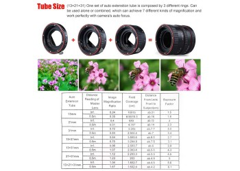 Mount Lens Adapter Auto Focus Af Macro Extension Tube Canon