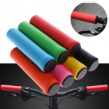 1 Pair Bicycle Spacescooter Soft Foam Sponge Handlebar Grips Cover Silicone Grip Handle bar Black colour
