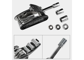 15 in 1 Multifunctionele Fiets Reparatie Tool Kit Hex Spoke