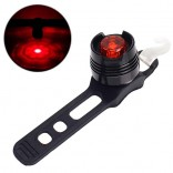 LED Waterdichte Fiets Achter Tail Helm Red Flash Light