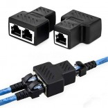 1 naar 2 Netwerk LAN Connector Adapter Extender RJ45 Ethernet kabel