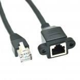 RJ45 male-Female Ethernet LAN Network Kabel CAT5E 1M