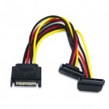 15Pin Haakse SATA Naar 2 * 15Pin Power Hdd Splitter Power Kabel