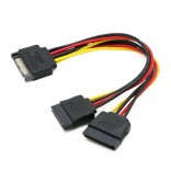 15Pin SATA Naar 2 * 15Pin Power Hdd Splitter Power Kabel