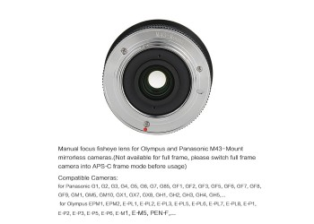 7artisans 12mm F2.8 lens Olympus Panasonic systeem camera