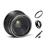 7artisans 25mm F1.8 manual focus lens Sony systeem camera + Gratis lenspen + 46mm uv filter en zonnekap