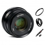 7artisans 35mm F1.2 Mark II manual focus lens Olympus Panasonic systeem camera + Gratis lenspen + 46mm uv filter en zonnekap