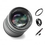 7artisans 55mm F1.4 manual focus lens Olympus Panasonic systeem camera + Gratis lenspen + 49mm uv filter en zonnekap