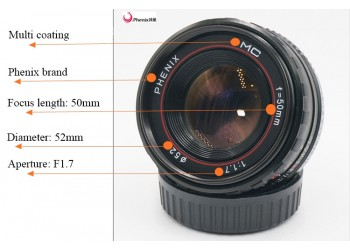 Phenix 50mm F1.7 manual focus lens Samsung systeem camera