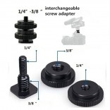 """Camera plate screw 1/4"""" 3/8"""" double schroef for Tripod"""