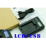 LCD usb Oplader voor Canon LC-E8C LP-E8 accu 550D 600D 700D