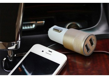 Autolader auto oplader dubbele USB port 3.1A iPhone Samsung