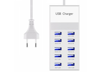 10 Port USB 3.0 Charger Iphone Ipad Muur Travel Opladen Station 60W Adapter hub