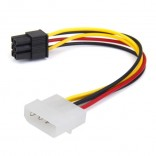 4-Pin Male to 6-Pin Female socket Power kabel PCIe Adapter