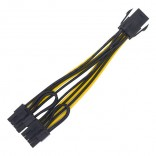 6-Pin to 2*8-Pin Pcie video card VGA Hub Power kabel