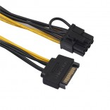 15-Pin SATA to 8-Pin Pcie video card Power kabel