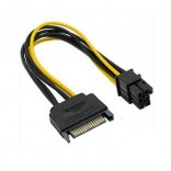 15-Pin Male SATA to 6-Pin Pcie video card Power kabel