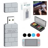 8Bitdo USB Draadloze Bluetooth Adapter Switch PS4 Xbox PS1 + JoyCon caps + kaarthouder