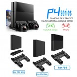 Cooling Stand For Sony PS4 / PS4 Slim / PS4 Pro Games Storage Dual Controller Charging Dock