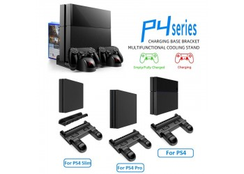 Cooling Stand Voor Sony PS4/PS4 Slim/PS4 Pro Games Opslag Dual Controller Opladen Dock
