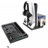 Cooling Stand Voor Sony PS5 Games Opslag Dual Controller Opladen Dock