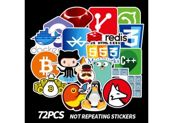 72 coole laptop stickers ICT developer Java C++ Php