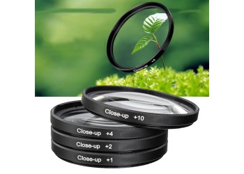 4x 67mm Close up Filter Macro +1+2+4+10 camera lens filter