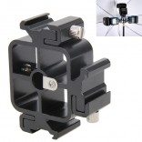 Drie Triple Hot Shoe Mount Adapter Flash Light Stand Houder