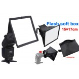 Opvouwbaar flash light diffuser softbox voor speedlight 17*15cm