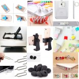 16 in 1 mobile phone accessories: Tripod Mount Mobile Phone Clip Holder + Stand + Finger Ring + Cord winder + Suction cup + Ear pads + SIM card pin + Cable protector + Dust plug