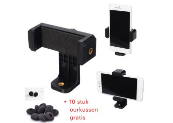 360-degree rotating video live mobile phone holder Tripod + 10 free earpads