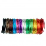 12 in 1 Round Aluminum Wire diameter 2mm length 5x12m Versatile Painted Aluminum Metal Wire Handmade DIY Craft