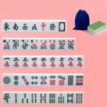 22mm Top-kwaliteit Mini Travelling Mahjong Draagbare Acryl Majiang Set