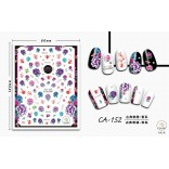 3D Nail Sticker Cool stickers for nail foil Fashion Manicure Stickers Nails CA-152 Embroidery Purple