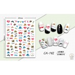 3D Nail Sticker Cool stickers for nail foil Fashion Manicure Stickers Nails CA-142 Hat