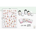 3D Nail Sticker Cool stickers for nail foil Fashion Manicure Stickers Nails CA-148 Holy Jesus