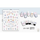 3D Nail Sticker Cool stickers for nail foil Fashion Manicure Stickers Nails CA-149 Virgin Mary