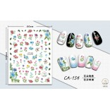 3D Nail Sticker Cool stickers for nail foil Fashion Manicure Stickers Nails CA-154 Embroidery Flowers