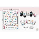 3D Nail Sticker Cool stickers for nail foil Fashion Manicure Stickers Nails CA-155 Embroidery Rose