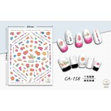 3D Nail Sticker Cool stickers for nail foil Fashion Manicure Stickers Nails CA-158 Embroidery