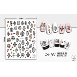3D Nail Sticker Cool stickers for nail foil Fashion Manicure Stickers Nails CA-161 Frame Black