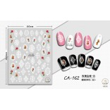 3D Nail Sticker Cool stickers for nail foil Fashion Manicure Stickers Nails CA-162 Frame White