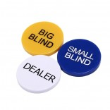 3pcs 5cm Small Big Blind Dealer Set for Party Casino Poker
