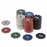 100Pcs Texas Poker Chip Tellen Bingo Chips Sets Casino Card Game