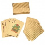Game Deck Gold Foil Poker Set Plastic Magic Card Waterproof Cards Magic 24K Gold Playing Cards Poker