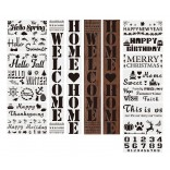 23 in 1 Card DIY Album Masking Spray Painted Template Drawing Stencils Painting Scrapbooking Card Home Holiday