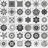 56 in 1 Card DIY Album Masking Spray Painted Template Drawing Stencils Painting Scrapbooking Card Mandala