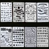 8 in 1 Card DIY Album Masking Spray Painted Template Drawing Stencils Painting Scrapbooking Card