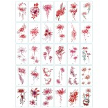 30 pieces Tattoo Sticker Face Hand Beautiful Body Art Fake Tatoo Temporary Waterproof Taty Model BY